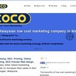 طراحی سایت شرکت بازاریابی کوکو در مالزی
