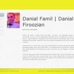 طراحی وب سایت شخصی (دو زبانه)